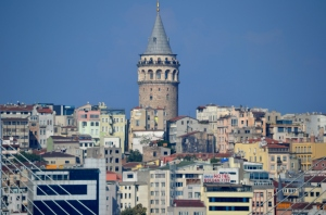 Vista su Galata dalla collina di Zeyrek