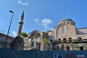 La moschea di Zeyrek in restauro