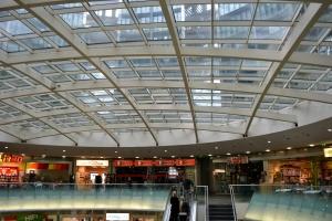 La zona del centro commerciale
