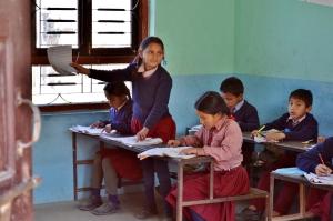 Bambini nella scuola di Humanan