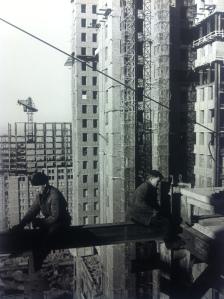 Il cantiere dell'università di Mosca sulle Colline Lenin (oggi Colline dei passeri), Mosca, primi anni '50