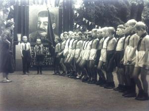 """Campo estivo. Adunata ufficiale (dalla serie """"Bambini""""), 1934"""