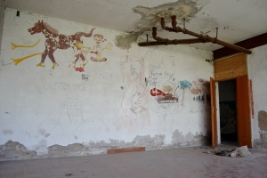 Alcuni graffiti nella palazzina olandese