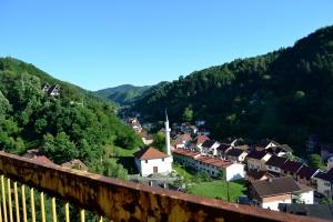 La vista dall'hotel Domavia